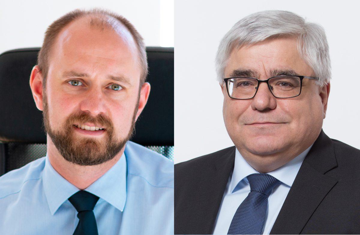 Malte Schneider (links) und Markus Sobotta wollen Bürgermeister in Schöningen werden.
