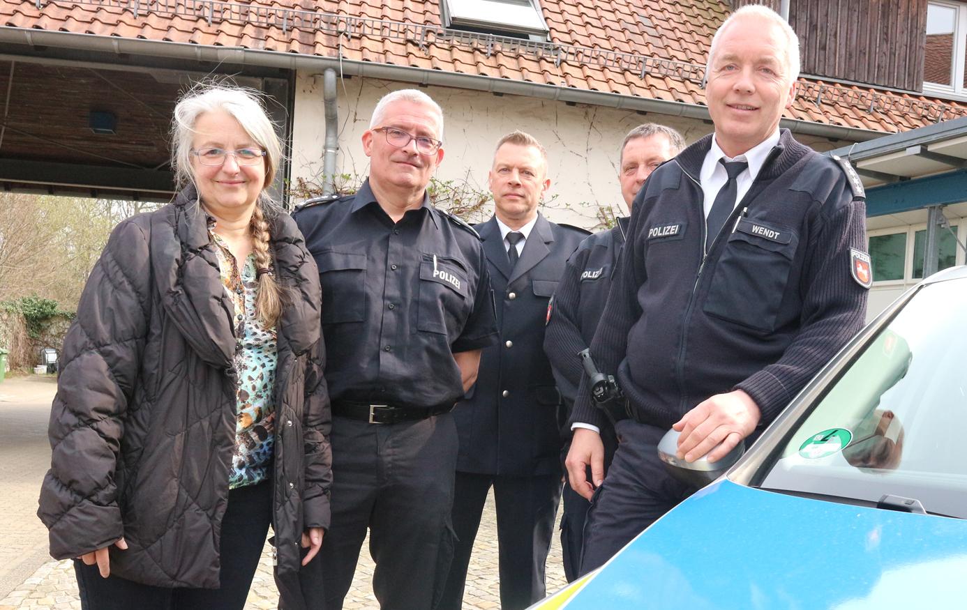 Stellten die Unfallstatistik vor (von links): Andrea Pagel, Jens aus dem Bruch, Ullrich Müller, Jürgen Körner und Thomas Wendt.