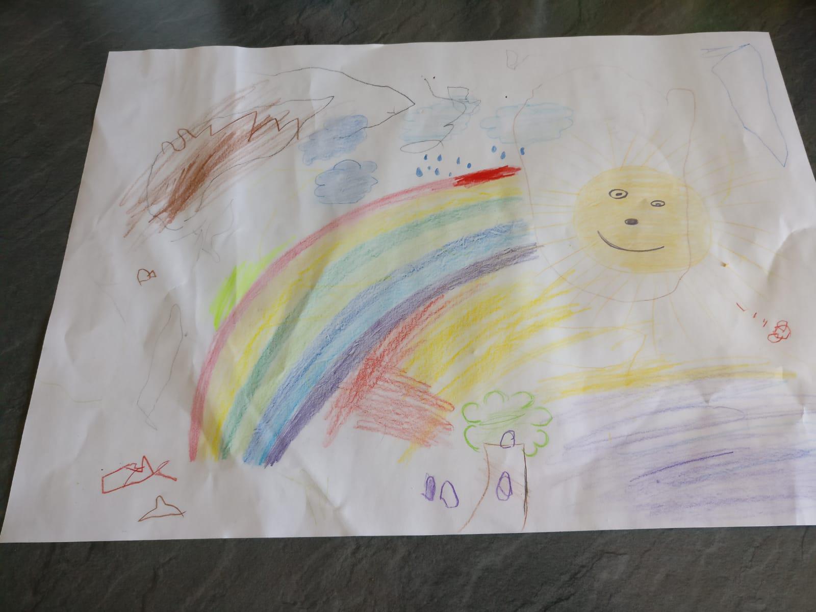 Auch der zweijährige Liam hat sich kreativ ausgetobt.