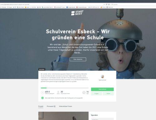 Esbecker Schulverein hofft auf Schwarmfinanzierung
