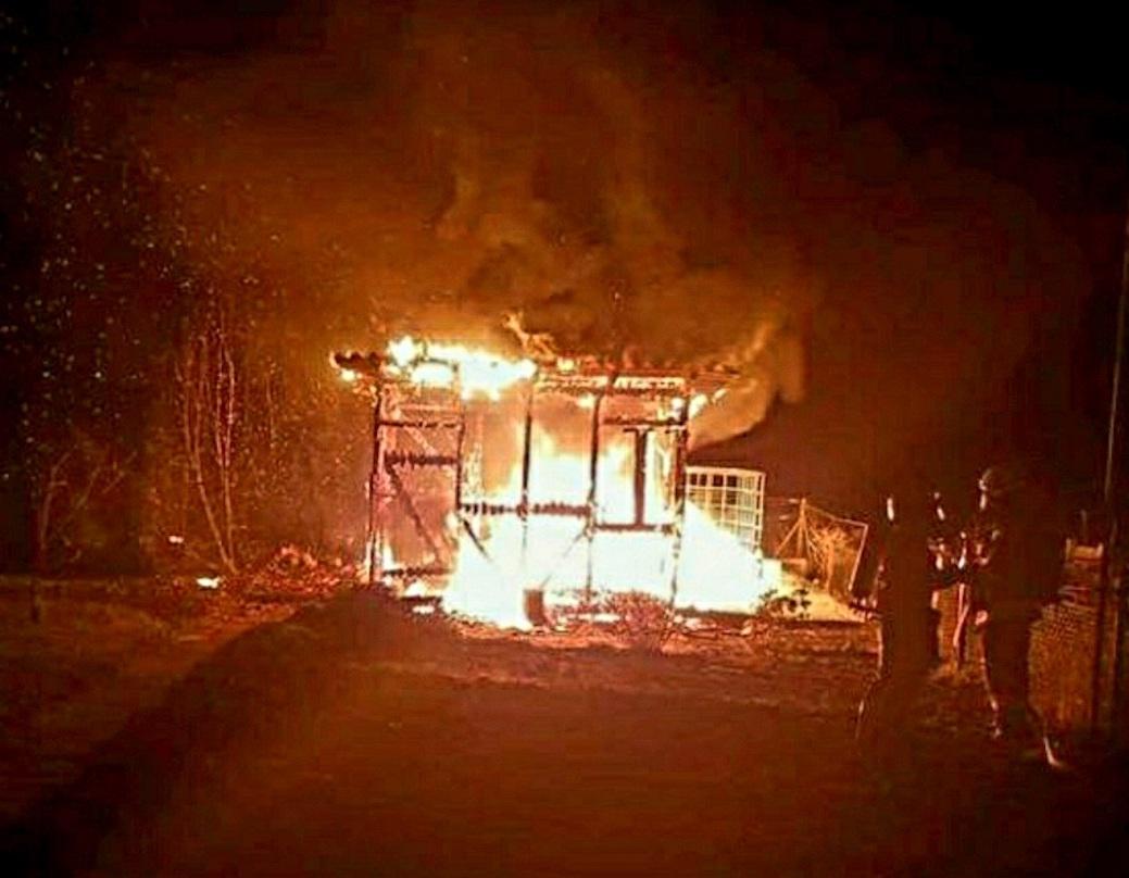 Die Gartenlaube im Kleingartenverein Süpplingenburg brannte komplett nieder. Foto: privat