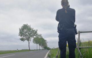 Am vergangenen Sonnabend wurden die Geschwindigkeiten der Autofahrer kontrolliert. Foto: privat
